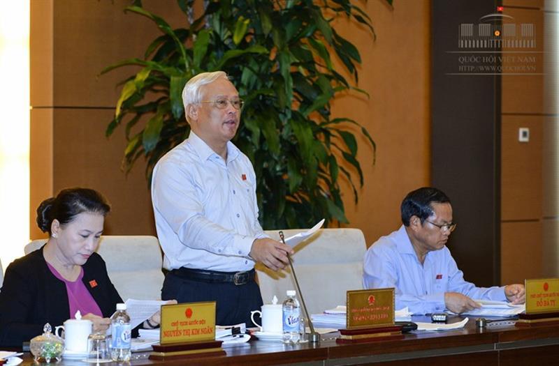 Ủy ban thường vụ Quốc hội cho ý kiến về Dự thảo Luật phòng, chống tham nhũng (sửa đổi)