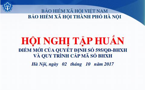 Tài liệu tập huấn về điểm mới của Quyết định 595/QĐ-BHXH