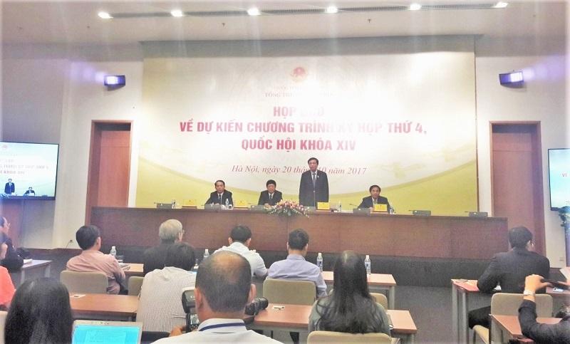Họp báo về Chương trình kỳ họp thứ 4, Quốc hội khóa XIV