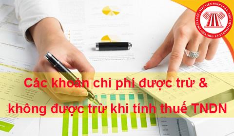 Các khoản chi phí được trừ & không được trừ khi tính thuế TNDN
