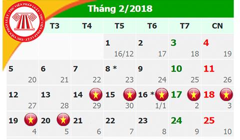 Chính thức có lịch nghỉ Tết Âm lịch 2018 cho cán bộ, công chức
