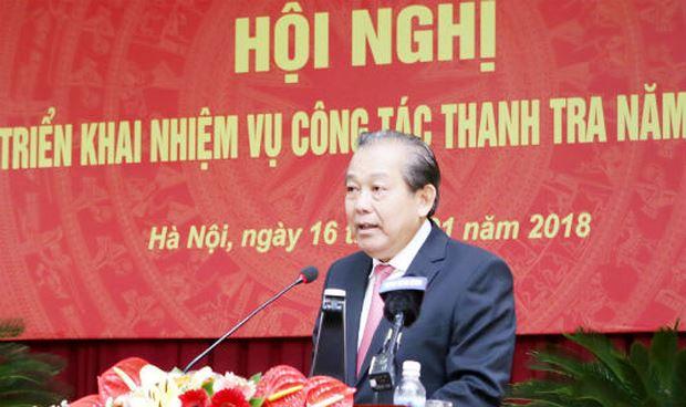 Yêu cầu Thanh tra Chính phủ xử lý nghiêm minh các vụ việc tham nhũng