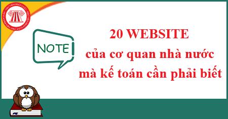 20 website của cơ quan nhà nước mà kế toán cần phải biết